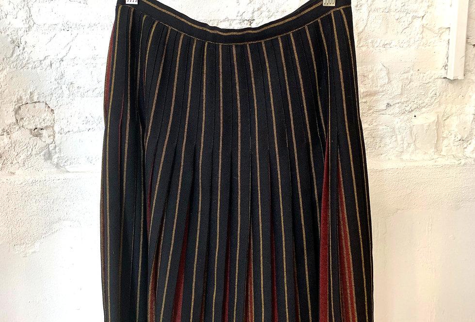 VINTAGE 60's Black Wool Skirt