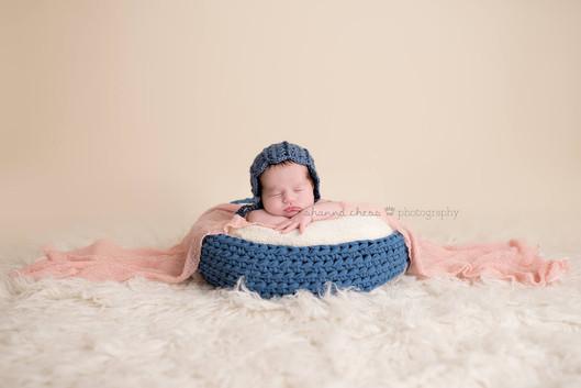 Blue crochet bowl