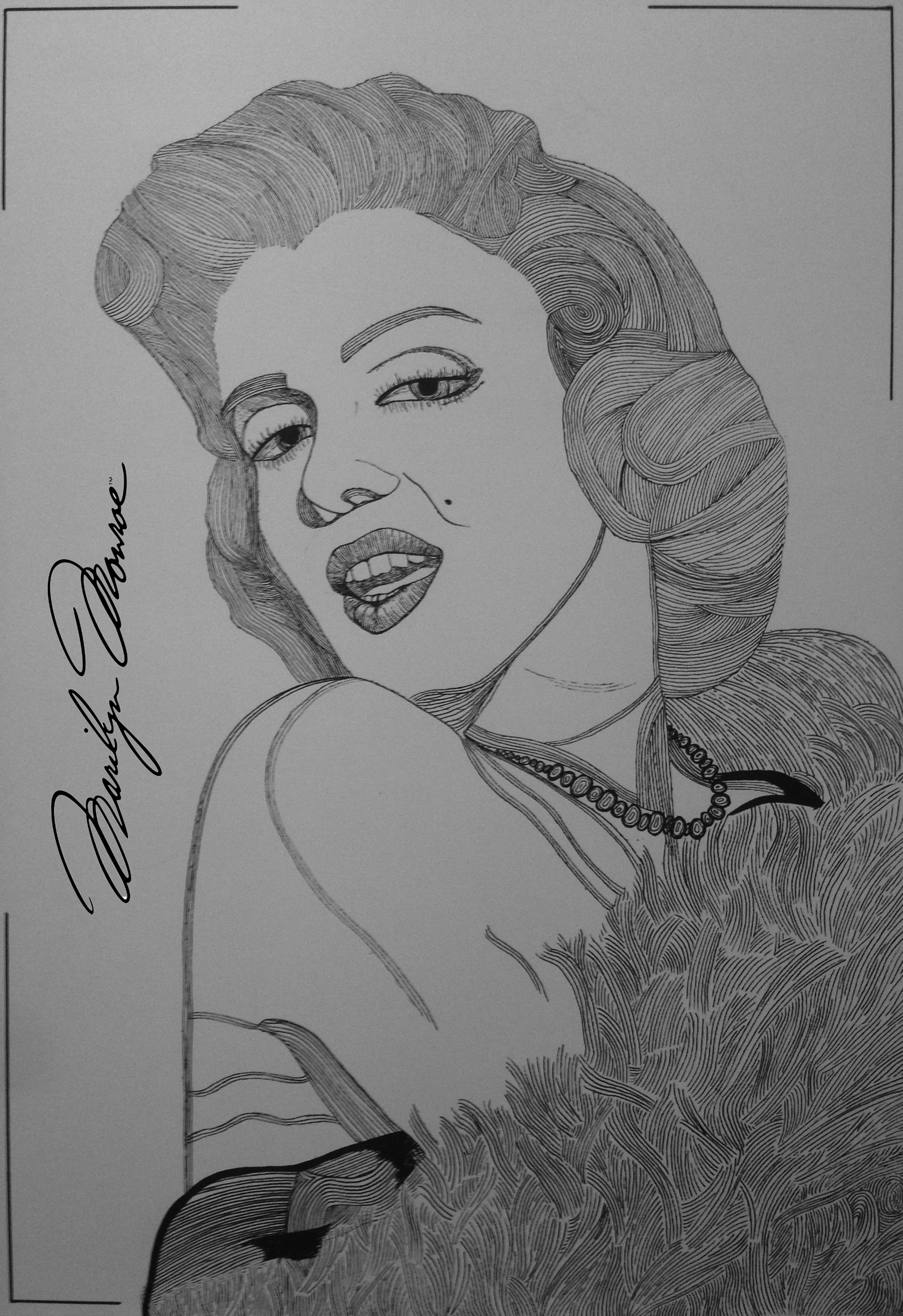 Marilyn Monroe by Tino - Augustin Sagehomme