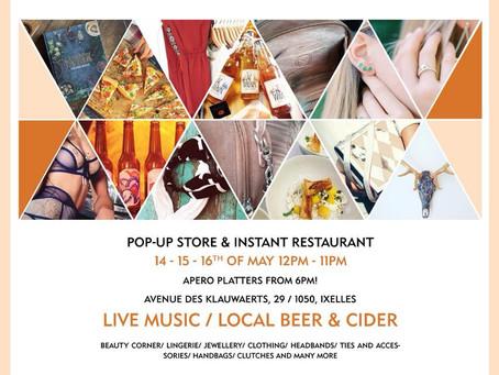 Pop-up store & restaurant éphémère SL Event - Chez Mama - Augustin Sagehomme