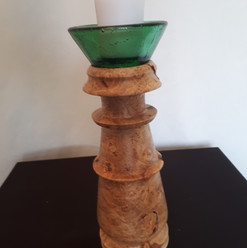 Figured Maple Candle Holder $50.00