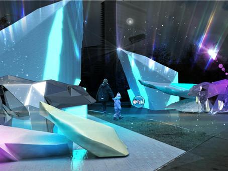 A Milano iceberg e orsi polari: l'installazione pro clima di Enel e AADV in piazza Gae Aulenti