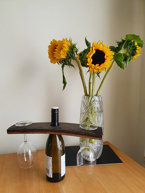 Upcycled Whiskey Barrel Stave Wine Butler