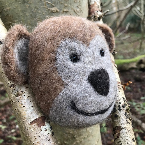 'Miles' the Monkey' -Hand-felted - 100% British Wool