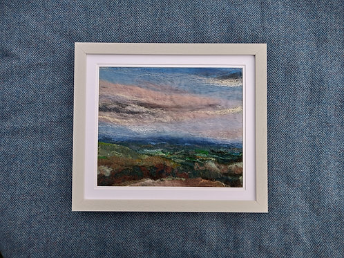 'Beacon Hill from Coombe Hill' - Chiltern hills, Buckinghamshire - Hand-felted