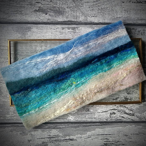 'Coral Beach' - Isle of Skye - Hand-felted wool painting
