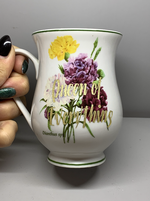 Queen of Everything Upcycled Mug