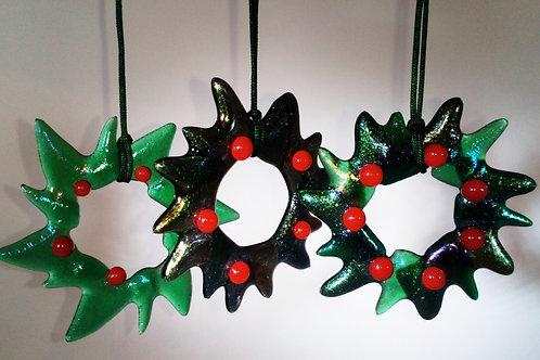 Glass Wreath Decorations