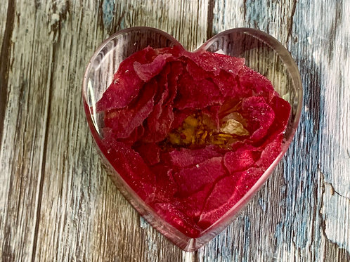 Red Peony Heart Paperweight