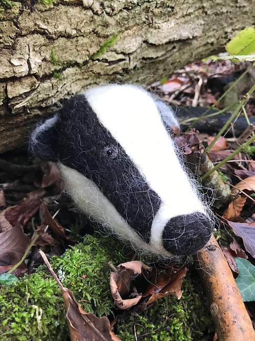 Boris the Badger - Hand-felted - 100% British wool