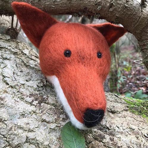 'Frederick the Fox' - Hand-felted fox head - British wool