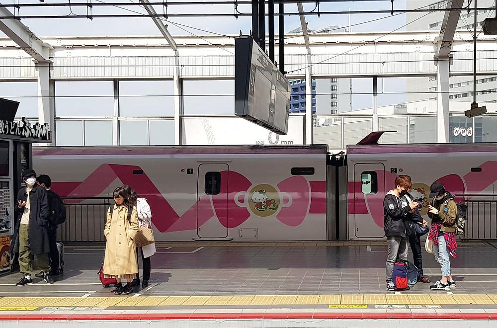Hellokitty, japantrip, viaje en trenes, shinkansen