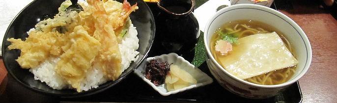 tempura, udon, teishoku