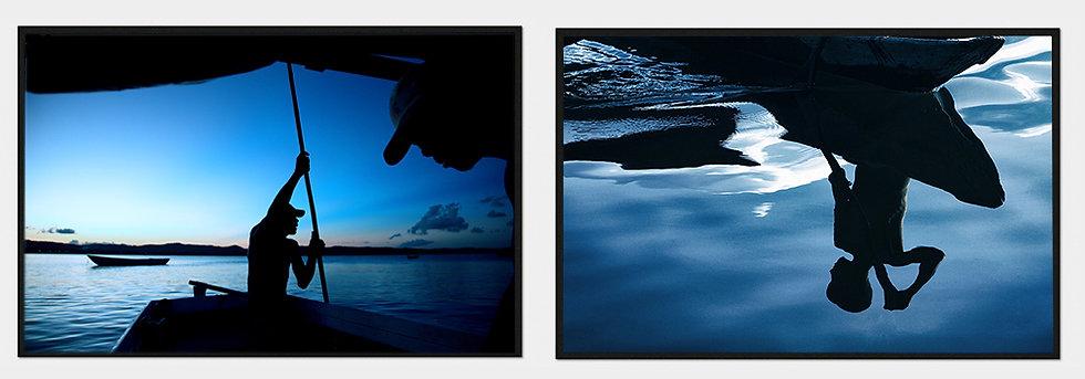 2 fotos 85x54cm - Coleção Azul