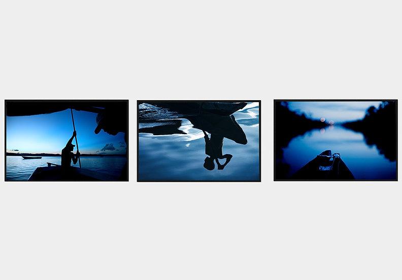 3 fotos 47x31cm - Coleção Azul