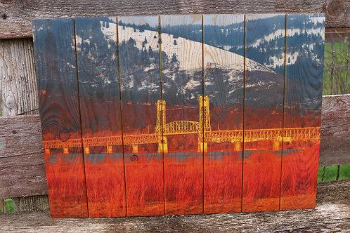 0070- Hood River Bridge Sunset Glow