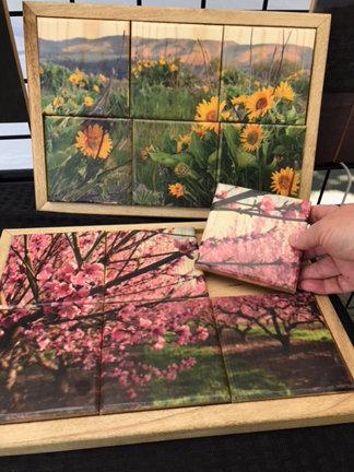 Trivets: coaster puzzle set