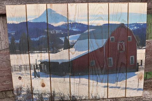 0071- Red Barn & Mt Hood