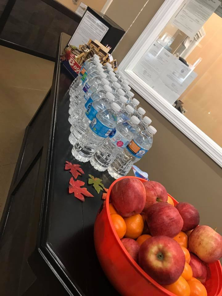 Water and Snacks
