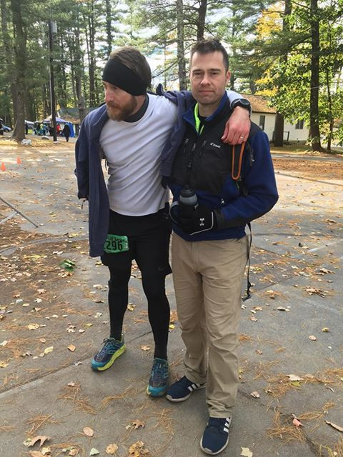 Rob and Chris right after finishing
