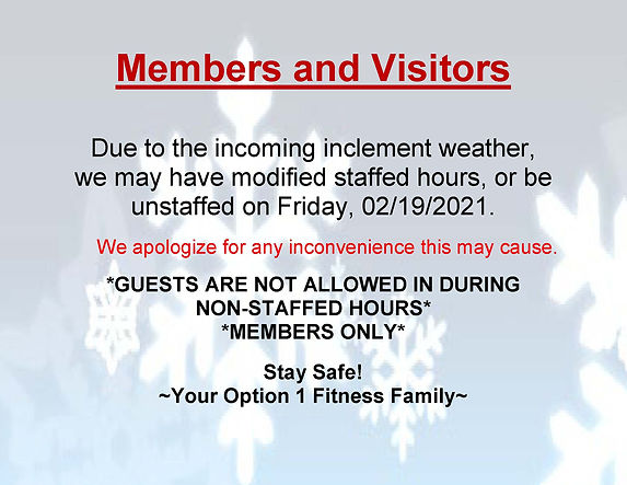 Inclement Weather Modified Hours Landsca