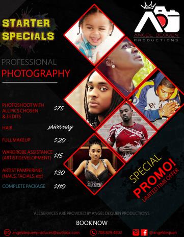 Angel DeQuen Productions Flyer