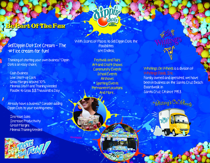 Dippin Dots Brochure Flyer (inside)