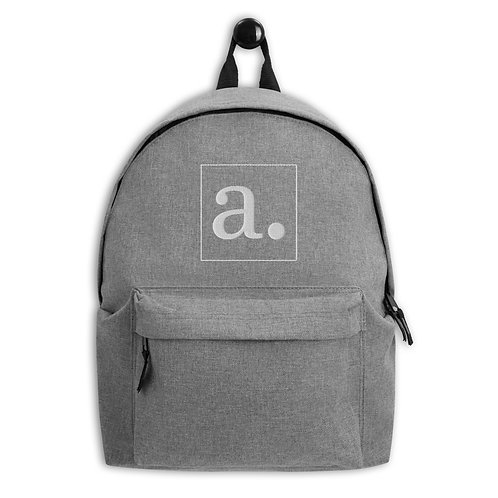 august foundation embroidered backpack