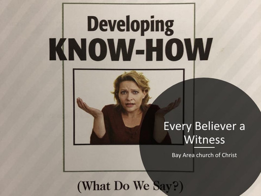 Every Believer a Witness Pt. 2