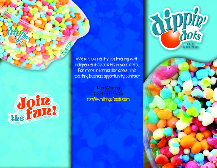 Dippin Dots Brochure Flyer (outside)