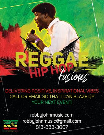 Robby John Reggae Flyer