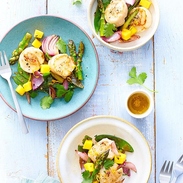 Salade de saint jacques