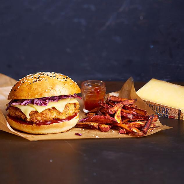 Hamburger au Gruyere