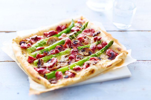 Pizza aux asperges
