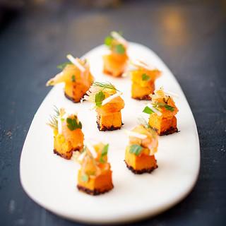 Cube butternut aux saumon