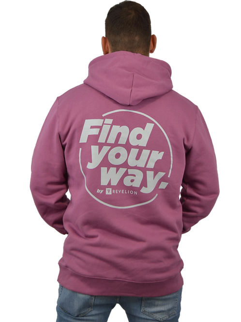 Sudadera FIND YOUR WAY · Bubble gum