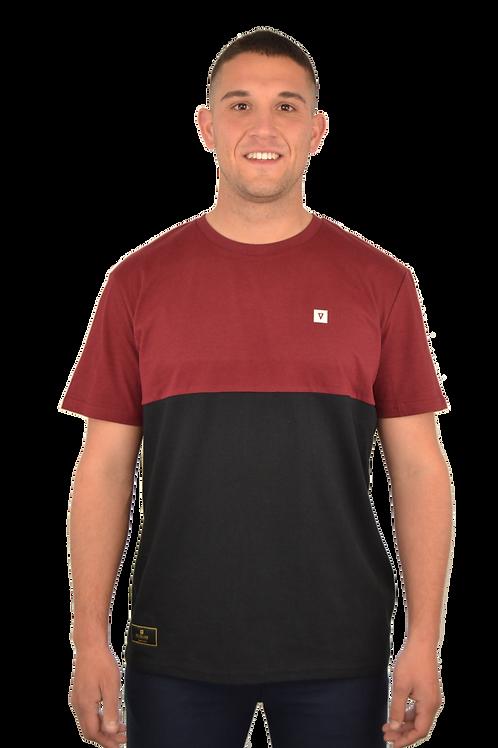 Camiseta CUSTOM · Garnet & Black