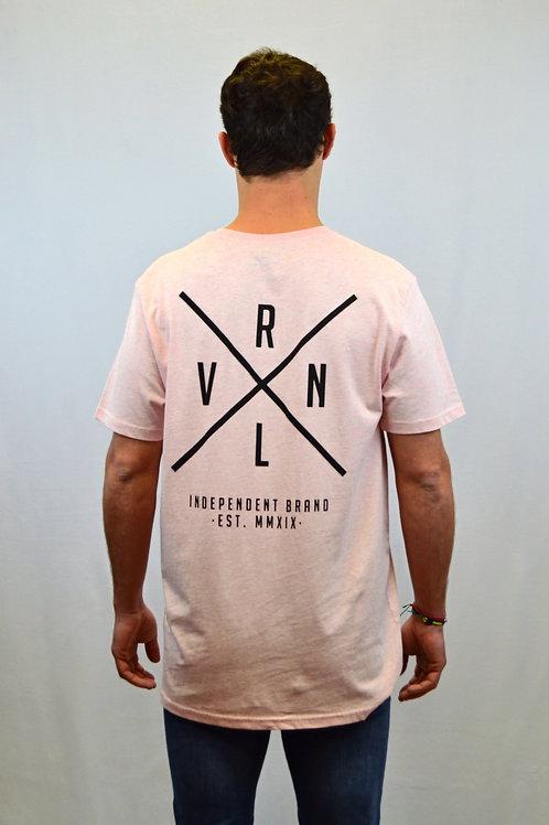 Camiseta CROSS · Heather Pink · Unisex