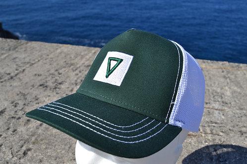 Gorra Trucker Verde-Blanco