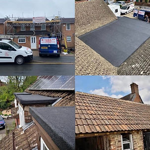 Flat roof on dormer extension