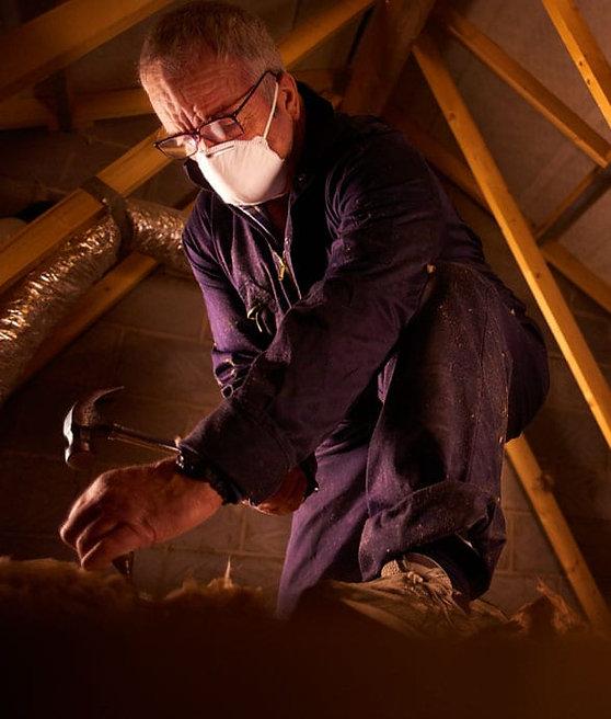 Carpenter in loft