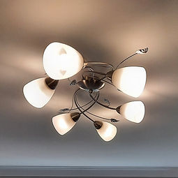 Light fitted to ceiling
