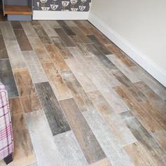 Wooden effect floor