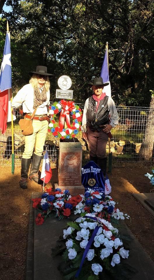 gravesite with rangers