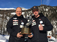 Marc Meile und Roman Wägeli gewinnen die Gesamtwertung der 2er Bob Cup-Rennen in St. Moritz