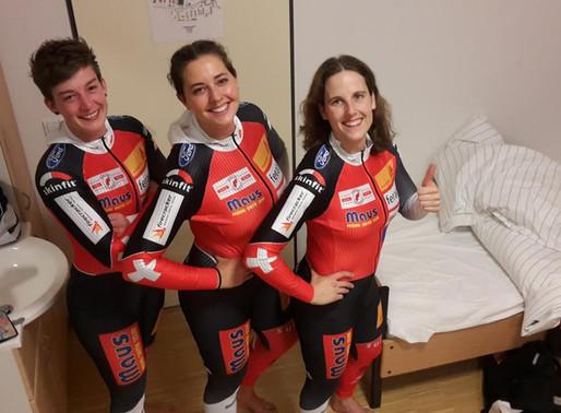 Bobteam Sabina Hafner 5. Rang beim Europacuprennen in Königssee
