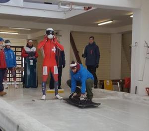 Start bei der Junioren-EM in Sigulda LAT