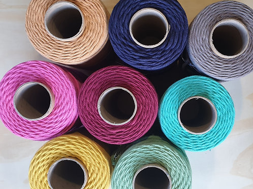Coloured Cotton Macrame Cord 4mm