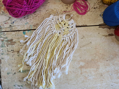 Turmeric Dyed Wall Hanging 2