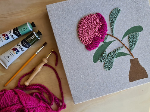 Paint & Punch Embroidery Floral Art Workshop 16 July